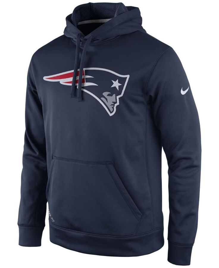 Nike Men's New England Patriots Performance Po Dri-fit Hoodie