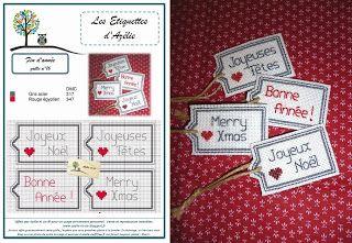brodeuse - embroiderer - étiquette - point de croix - cross stitch - Blog : http://broderiemimie44.canalblog.com/