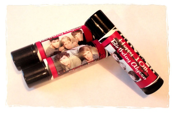 One Direction Personalized Lip Balm Party Favors  by MajesticSoaps, $1.00