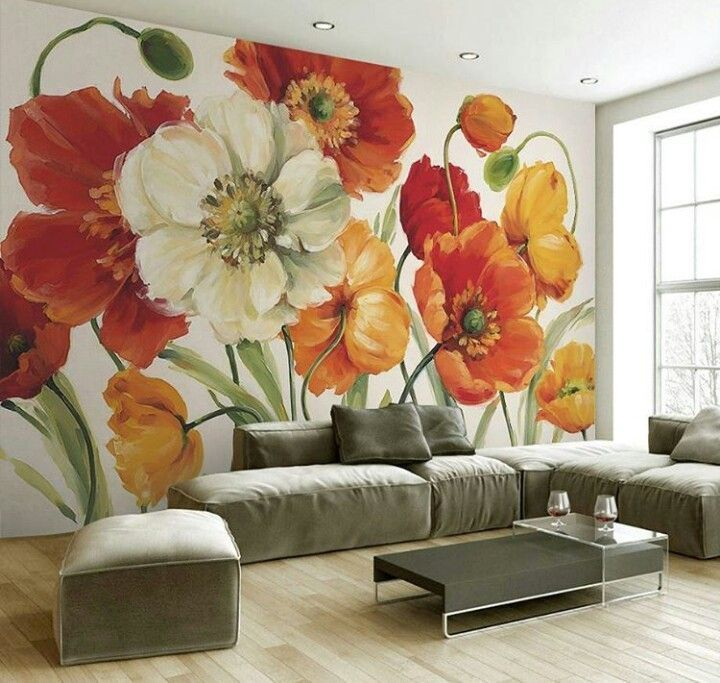 Nature Decor Wall Decor Forest Bloom Mural Wallpaper Beautiful Natural Decor Nature Inspired Design Home Decor Forest Mural Art Wall Painting Wall Decor