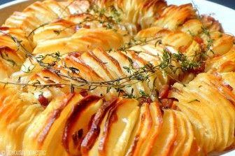 Crisp potatoes in the oven