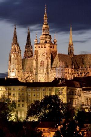 go2prague.com St. Vitus Cathedral at the Prague Castle. The most classic view of all classic Prague views