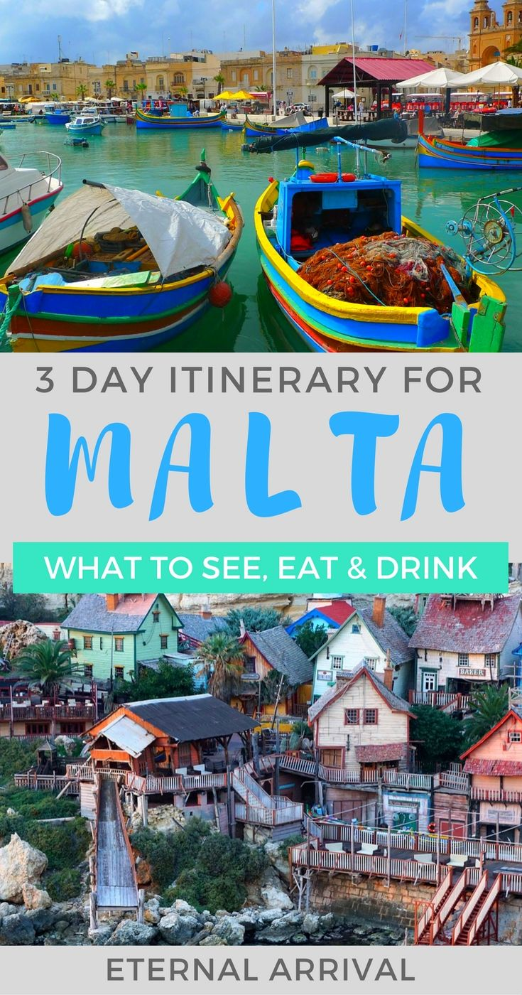 Planning a trip to Malta? This 3 day Malta itinerary will help you make the most of a short trip. Suggestions on what to see, eat, & drink on this beautiful Mediterranean island nation, #Malta