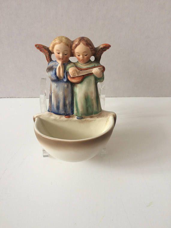 Vintage Hummel holy water font 146 Angel Duet | Hummel ...