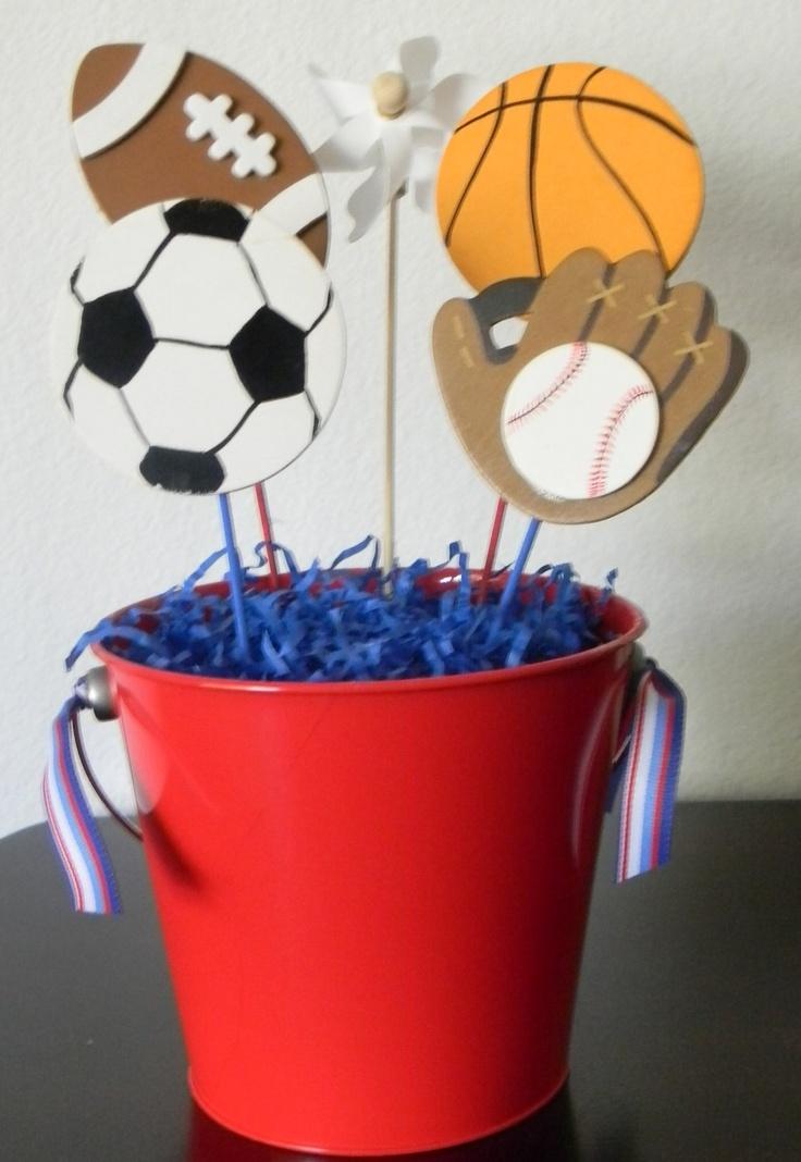 all sport theme center piece idea