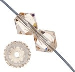 Swarovski Crystal - 4 mm Bicone/Xilion (5328) - Light Silk - Sold Individually