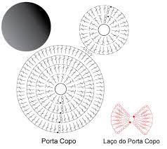 Αποτέλεσμα εικόνας για sousplat crochê gráfico