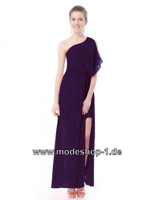 Schulterfreies Cut Out Abendkleid in Schwarz