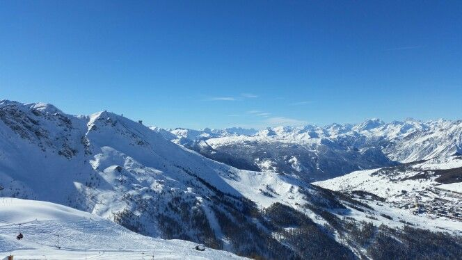 Sestriere - skiing at 2500  mt