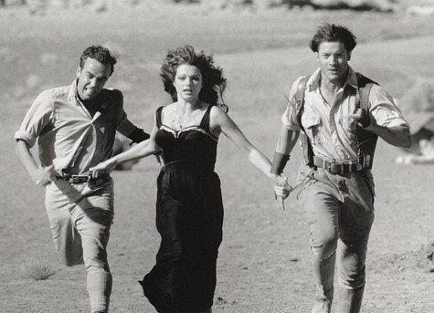 Brendan Fraser, John Hannah and Rachel Weisz in The Mummy
