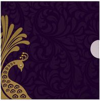 A polished jacket pattern invitation has a beautiful designer envelope and opulent inserts with elegant peacock design concept purely spiff up with kundan art, card is pulled out of this jacket to see gorgeous inserts. It's cute & cool.....! Note: It can be customized as per your requirement. Minimum quantity should be 200 pcs.