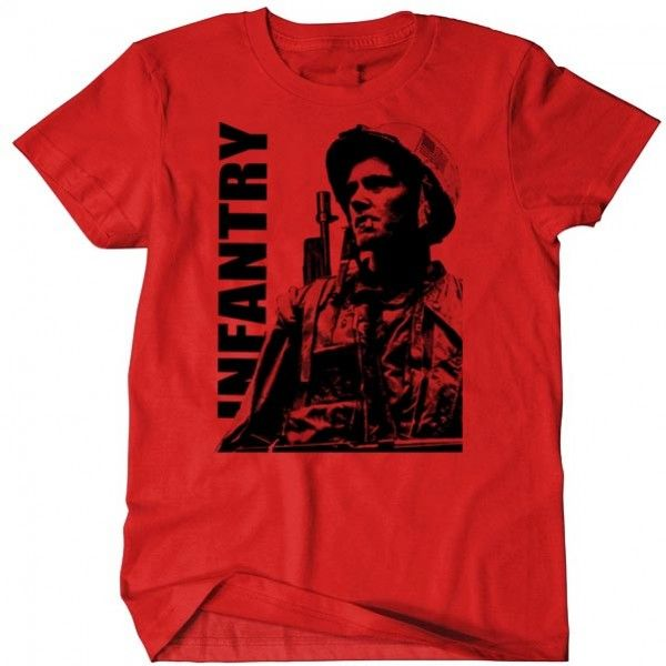 Military T-Shirt Infantry Grunt Combat Arms USMC US Army MOS 11b MOS 0311 Men Cotton Tee
