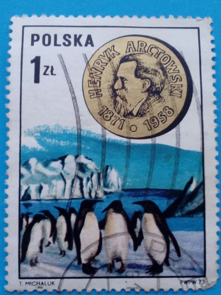 "Stamp ""Polish Scientists: Henryk Arctowski"", 1973"