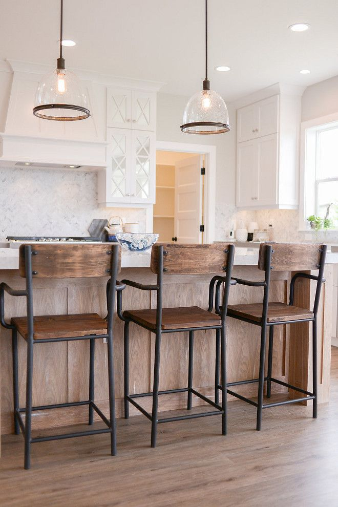 The Seeded Glass Kitchen Pendants Are From Savoy House.