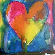 Jim Dine hearts.  My color pallette: Watercolor, Idea, Valentines, Jim Your, Heart Art, Dine Hearts, Painting, Valentine S