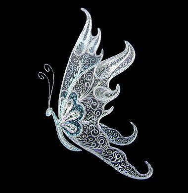 Handycrafts-Filigree butterfly