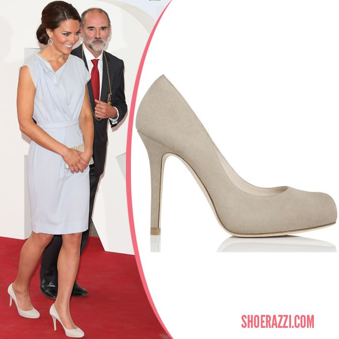 July 2012 Catherine Duchess Of Cambridge Wore L Bennett Harper Cream Taupe Pumps To The Creative Industires Reception In London