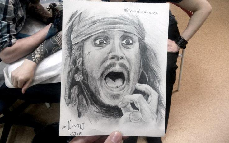 #Jack #Sparrow #Jacksparrow #pirate #pirates #portrait #drawning  #sketch #ideas #tattoo #wow #aaa