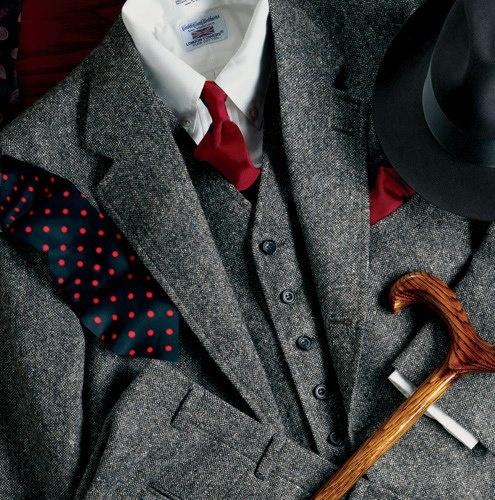Men's fashion, British Style three piece cane