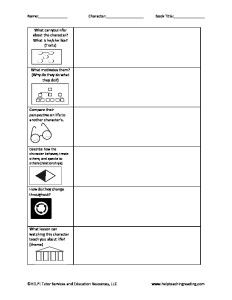Printables Gifted And Talented Worksheets 1000 images about reading worksheets on pinterest icons the o character chart with depth and complexity for deeper analysis