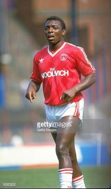 Garth Crooks of Charlton Athletic in action during a Barclays League Division One match against Nottingham Forest at The Valley Stadium in London...