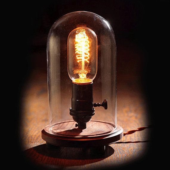 Edison Lamp - Desk Lamp - Steampunk Light - Industrial Lamp - Colonial Light - BULB INCLUDED - Table Lamp