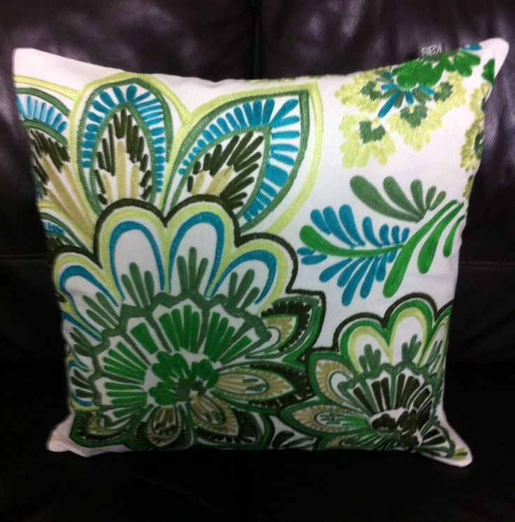 Cushion cover kas 45 cm x 45cm ingrid green square new home decor bobin boutique $30