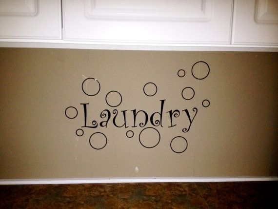 Laundry Room Wall Art, Wall Decor, Vinyl Decal