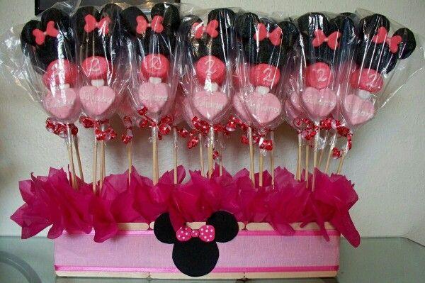 Paletas  bombones Minnie Mouse