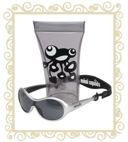 On sale! http://www.buttonbaby.com.au/mini-squids-sunglasses-silver-p-1855.html  Mini Squids are an Australian designed aquatic range of sunglasses for babies and toddlers aged 6 months to 3 years. They are designed to wrap snugly around small faces and provide maximum protection for little peepers. Mini SQUIDS Sunglasses features:   Mini SQUIDS provide 100% UV protection (UV 400) and comply with the Australian Standards AS/NZS: 1067