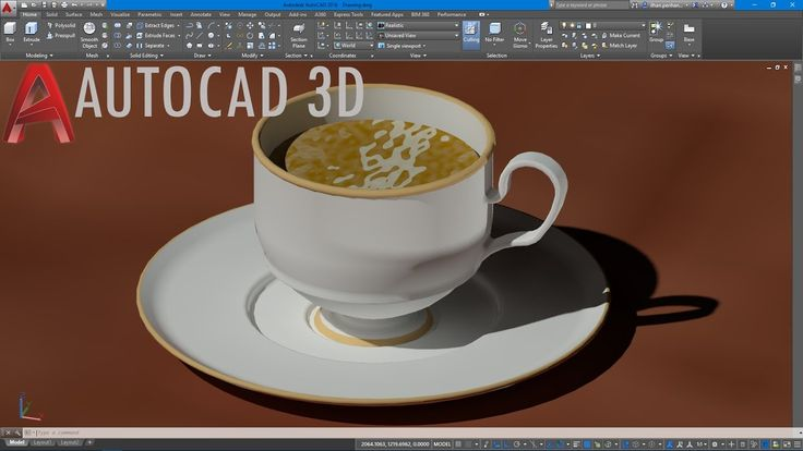 AutoCAD 3D Kahve Fincanı Çizimi