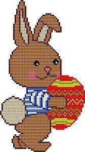 Easter bunny, cross stitch patterns and charts free - www.free-cross-stitch.rucniprace.cz