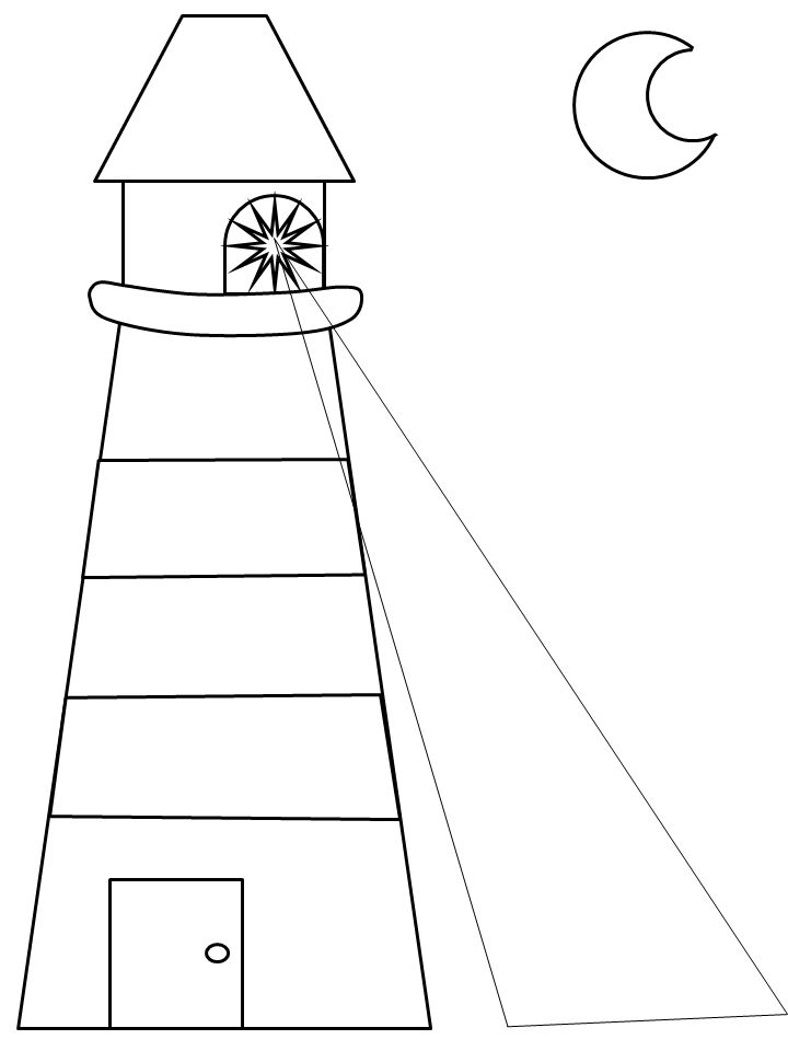 Lighthouse Coloring Book Pages