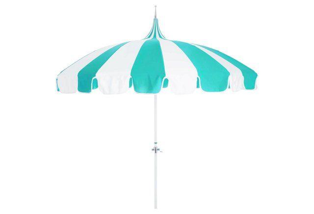 Pagoda Patio Umbrella, Aruba/White