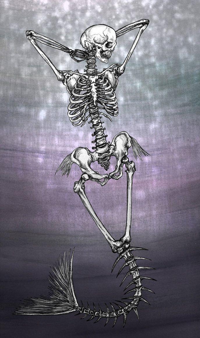 Mermaid Skeleton by kaleidoscopickle on DeviantArt