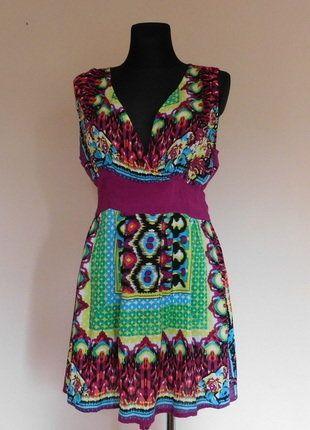 Kup mój przedmiot na #vintedpl http://www.vinted.pl/damska-odziez/krotkie-sukienki/17685474-boohoo-kolorowa-letnia-sukienka-40-42
