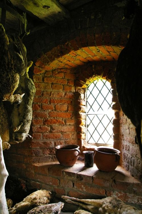 Medieval kitchen in Gainsborough old hall.