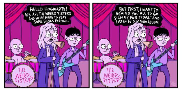If Harry Potter Had Modern Technology Weird Sisters Harry Potter Fan Art Harry Potter