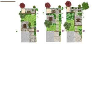 Groene oase 15x7 m. in de stad