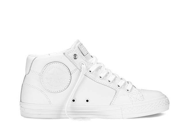 Wiz Khalifa's white on white converse