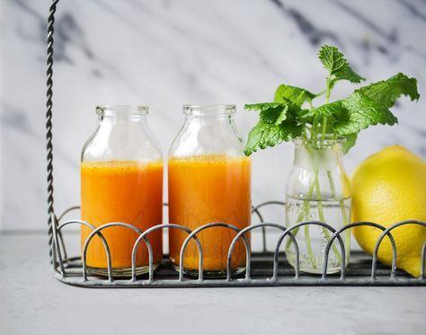 Turmeric, chili, apple, ginger / Dryck med gurkmeja, chili och ingefära - Evelinas Ekologiska