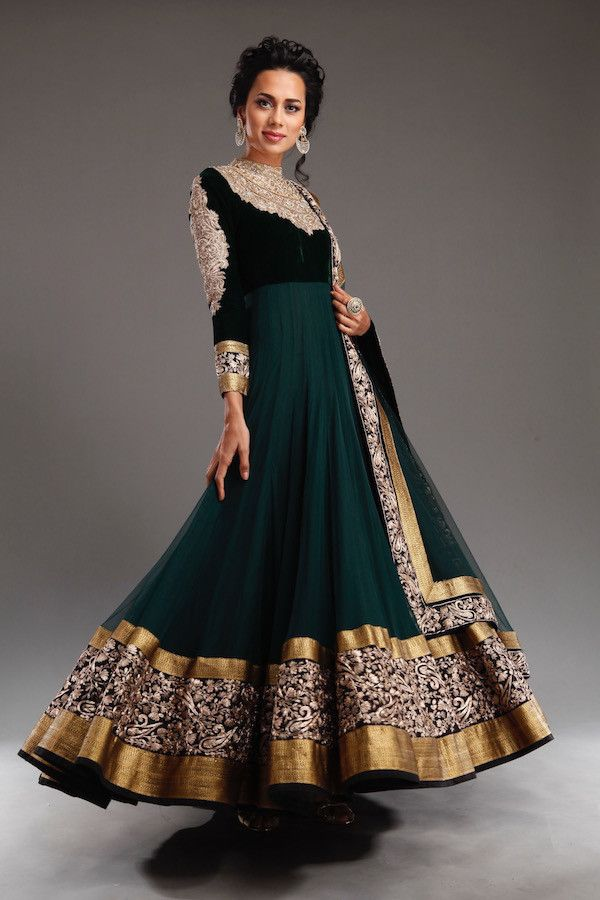 Embroidered Net Anarkali Suit https://facebook.com/punjabisboutique