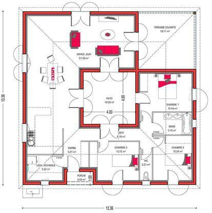 Mod le de maison villa patio retrouvez tous les types for Tous les plans de maison
