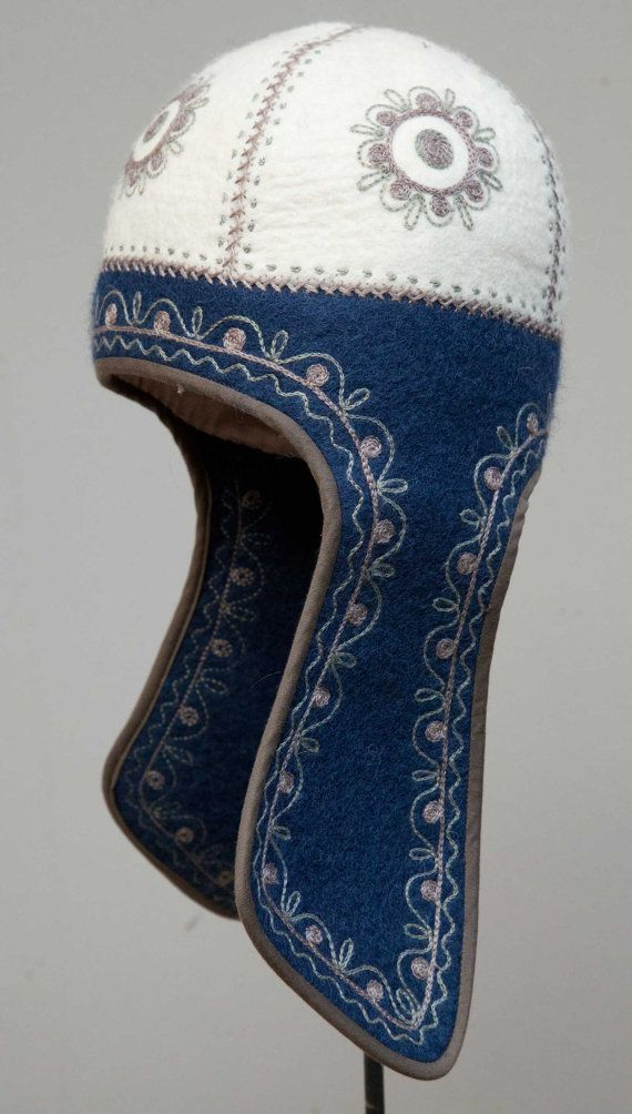 handmade felt hat - pure wool - circumference 58,00 cm - FREE UPS SHIPMENT - 00043