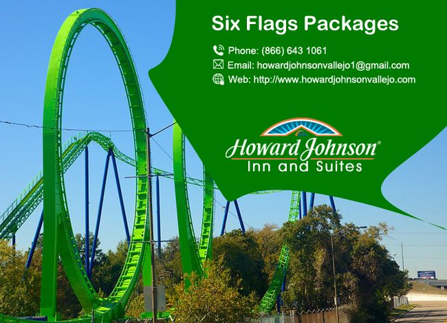 Howard Johnson Inn & Suites are Located less than 3 miles away from Six Flags Discovery Kingdom Park. https://goo.gl/ZAJYpS
