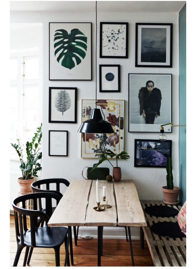 Make dining personal and fun with a gallery wall t…