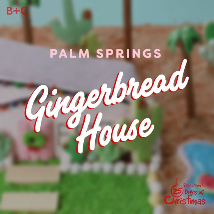 Christmas in paradise! Nothing says the holidays like this festive gingerbread house.