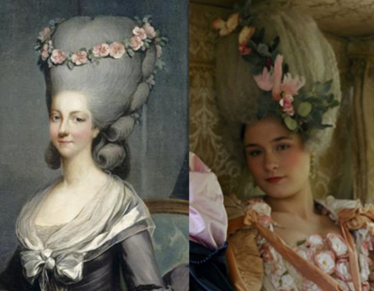 Comparison of the real Princesse de Lamballe with the 2006 version portrayed by Mary Nighy in Sophia Coppola's film 'Marie Antoinette'.