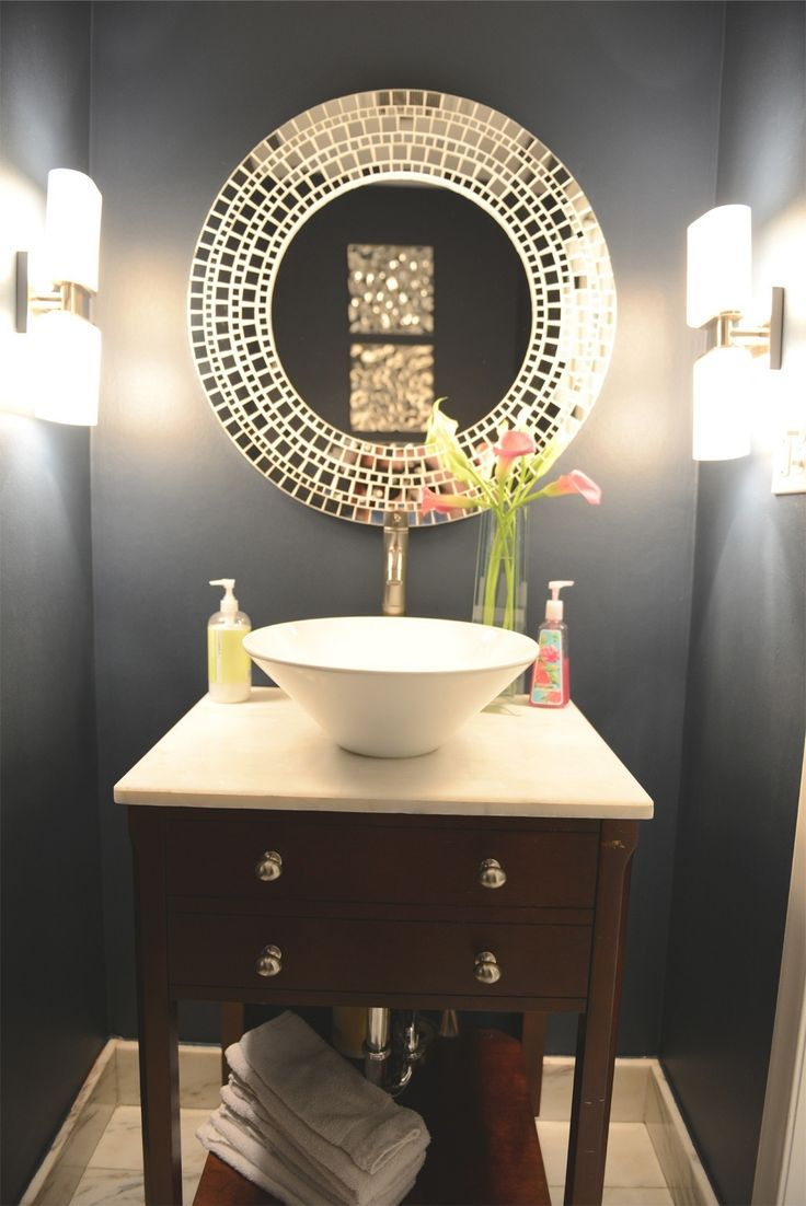 Attractive Small But Mighty: 100 Powder Rooms That Make A Statement