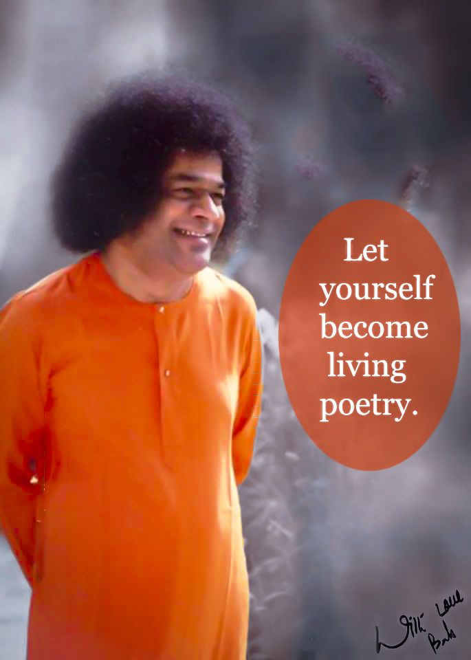 Let yourself become living poetry. <3